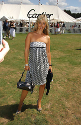 LOUISE REDNAPP at the Cartier International polo at Guards Polo Club, Windsor Great Park, on 30th July 2006.<br />