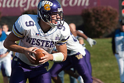 29 October 2005: Leatherneck QB Steve LaFalce. With a final score of 31 - 17, Western Illinois University Leathernecks collared the Illinois State University Redbirds knocking them from their 18th ranked perch at Hancock Field on Illinois State's campus in Normal IL