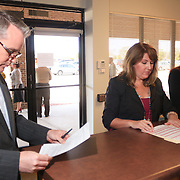 Elizabeth Redenbaugh filed for North Carolina Senate District 9 Wednesday February 19, 2014 at the New Hanover County Government Complex. (Jason A. Frizzelle)