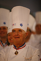 Paul Bocuse at the Bocue d'Or in Lyon..Owen Franken for the NY Times..January 28, 2009.