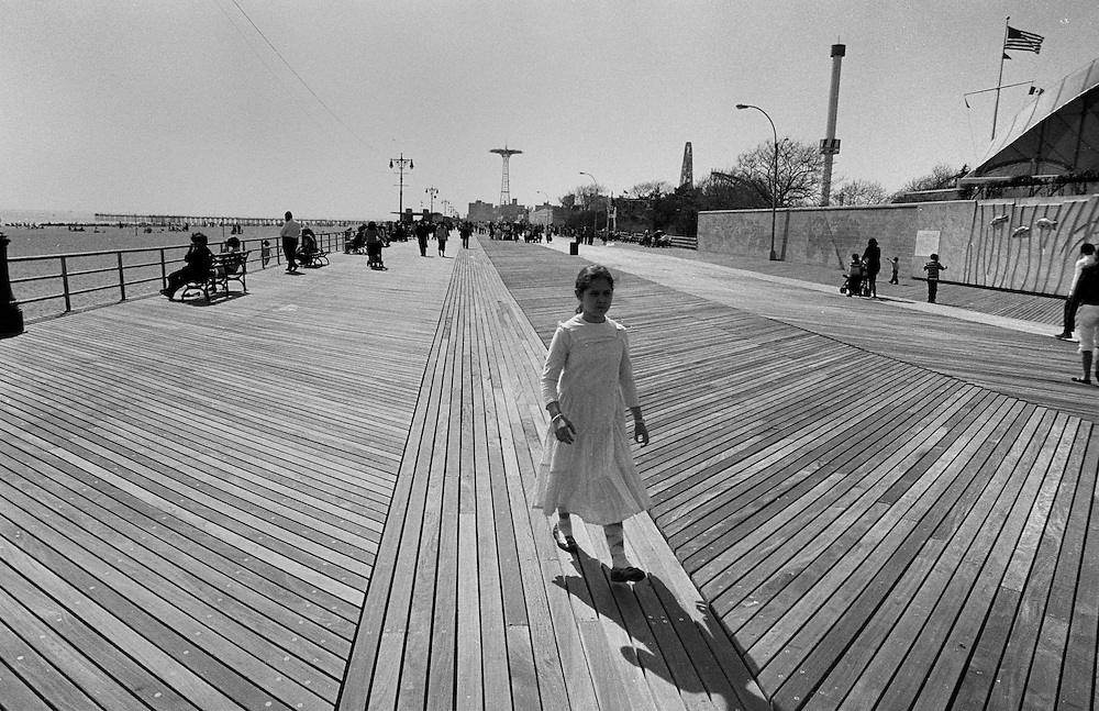 "Coney Island boardwalk. Brooklyn, New York City...Part of long-term (2005-2008) story ""I See A Darkness""."