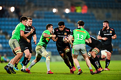 Elvis Taione of Exeter Braves is tackled - Mandatory by-line: Ryan Hiscott/JMP - 01/04/2019 - RUGBY - Sandy Park Stadium - Exeter, England - Exeter Braves v Harlequins - Premiership Rugby Shield