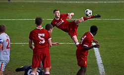 BIRKENHEAD, ENGLAND - Wednesday, December 6, 2017: Liverpool's George Johnston scores the second goal during the UEFA Youth League Group E match between Liverpool FC and FC Spartak Moscow at Prenton Park. (Pic by David Rawcliffe/Propaganda)