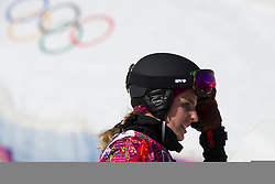 22.02.2014, Rosa Khutor Extreme Park, Krasnaya Polyana, RUS, Olympia Sochi 2014, Snowboard Parallelslalom Damen, im Bild Patrizia Kummer (SUI) enttaeuscht // during the Olympic Winter Games Sochi 2014 Rosa Khutor Extreme Park in Krasnaya Polyana, Russia on 2014/02/22. EXPA Pictures © 2014, PhotoCredit: EXPA/ Freshfocus/ Urs Lindt<br /> <br /> *****ATTENTION - for AUT, SLO, CRO, SRB, BIH, MAZ only*****
