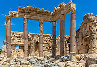 Temple of Jupiter romans ruins of  Baalbek in Beeka valley Lebanon Middle east
