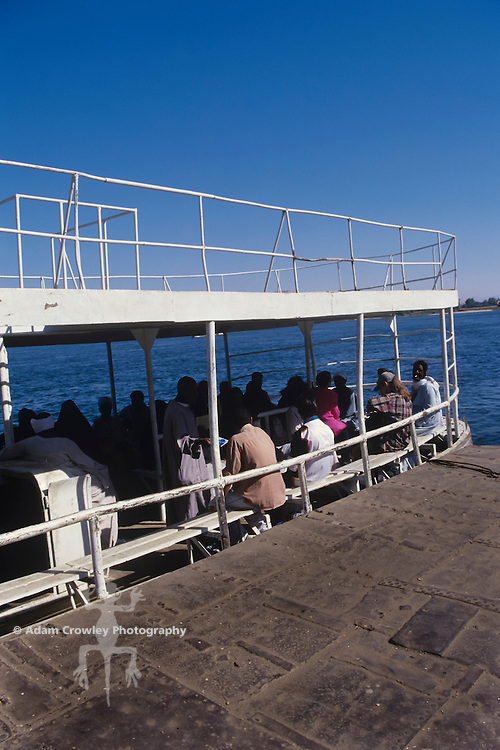 Ferry crossing the Nile River, Luxor, Egypt.