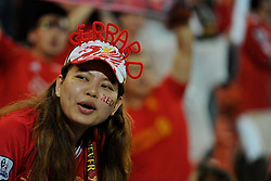 BANGKOK, THAILAND - Sunday, July 28, 2013: Liverpool supporters during a preseason friendly match against Thailand XI at the Rajamangala National Stadium. (Pic by David Rawcliffe/Propaganda)