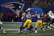 Los Angeles Rams nose tackle Ndamukong Suh (93) in action during the NFL Super Bowl 53 football game against the New England Patriots on Sunday, Feb. 3, 2019, in Atlanta. The Patriots defeated the Rams 13-3. (©Paul Anthony Spinelli)