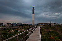 NC00554-00...NORTH CAROLINA - Oak Island Lighthouse at Caswell Beach near the mouth of the Cape Fear River.