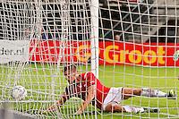 ALKMAAR - 26-09-2015, AZ - Heracles Almelo, AFAS Stadion, AZ speler Markus Henriksen scoort hier de 1-0, doelpunt.