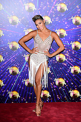 Karen Hauer arriving at the red carpet launch of Strictly Come Dancing 2019, held at BBC TV Centre in London, UK.