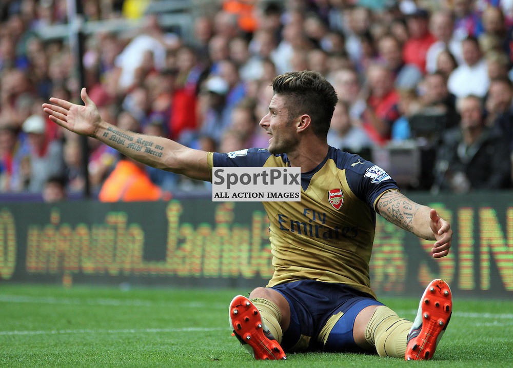 Olivier Giroud During Crystal Palace vs Arsenal on Sunday the 16th August 2015.