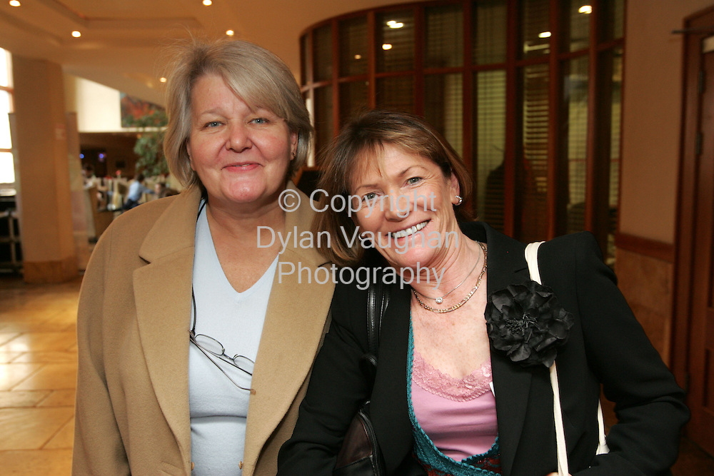 11/11/2005.Pictured at the Irish Nurses Organisation Conference at the Kilkenny Ormonde Hotel was .Anne Tynan Temple Street and Doreen Martin Vincents Private..Picture Dylan Vaughan.