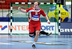 14.01.2011, Himmelstalundshallen, Norrköping, SWE, IHF Handball Weltmeisterschaft 2011, Herren, Österreich vs Brasilien, im Bild, // Austria #21 Roland Schlinger celebrate after a goal // during the IHF 2011 World Men's Handball Championship match Austria vs Brazil at Himmelstalundshallen in Norrkoping, Sweden on 14/1/2011. EXPA Pictures © 2011, PhotoCredit: EXPA/ Skycam/ Michael Buch +++++ ATTENTION - ..OUT OF SWEDEN/SWE +++++