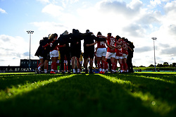 Bristol City Women huddle after the final whistle of the match - Mandatory by-line: Ryan Hiscott/JMP - 29/09/2019 - FOOTBALL - SGS College Stoke Gifford Stadium - Bristol, England - Bristol City Women v Chelsea Women - FA Women's Super League