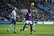 Port Vale defender Remi Streete  clears the ball during the Sky Bet League 1 match between Coventry City and Port Vale at the Ricoh Arena, Coventry, England on 26 December 2015. Photo by Simon Davies.