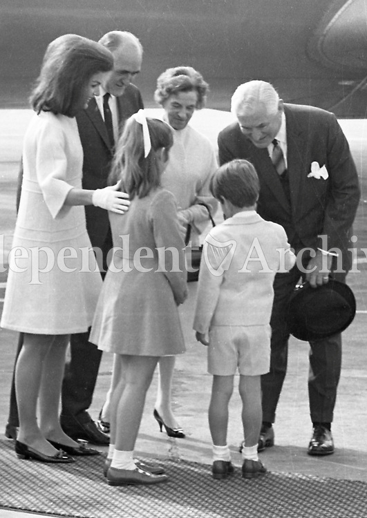 Jacqueline Kennedy's visit to Ireland, June 1967.<br />