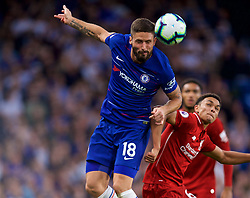 LONDON, ENGLAND - Saturday, September 29, 2018: Chelsea's Olivier Giroud during the FA Premier League match between Chelsea FC and Liverpool FC at Stamford Bridge. (Pic by David Rawcliffe/Propaganda)