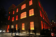 The Building , Henry Allsop and Ben Anderson, THE LOUISE T BLOUIN INSTITUTE OPENS WITH INAUGURAL EXHIBITION: James Turrell: A Life in Light Exhibition. OLAF ST. LONDON. 12 OCTOBER 2006.  -DO NOT ARCHIVE-© Copyright Photograph by Dafydd Jones 66 Stockwell Park Rd. London SW9 0DA Tel 020 7733 0108 www.dafjones.com