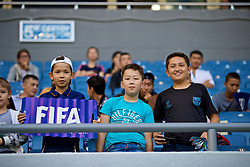 ASTANA, KAZAKHSTAN - Sunday, September 17, 2017: Kazakhstan supporters before the FIFA Women's World Cup 2019 Qualifying Round Group 1 match between Kazakhstan and Wales at the Astana Arena. (Pic by David Rawcliffe/Propaganda)