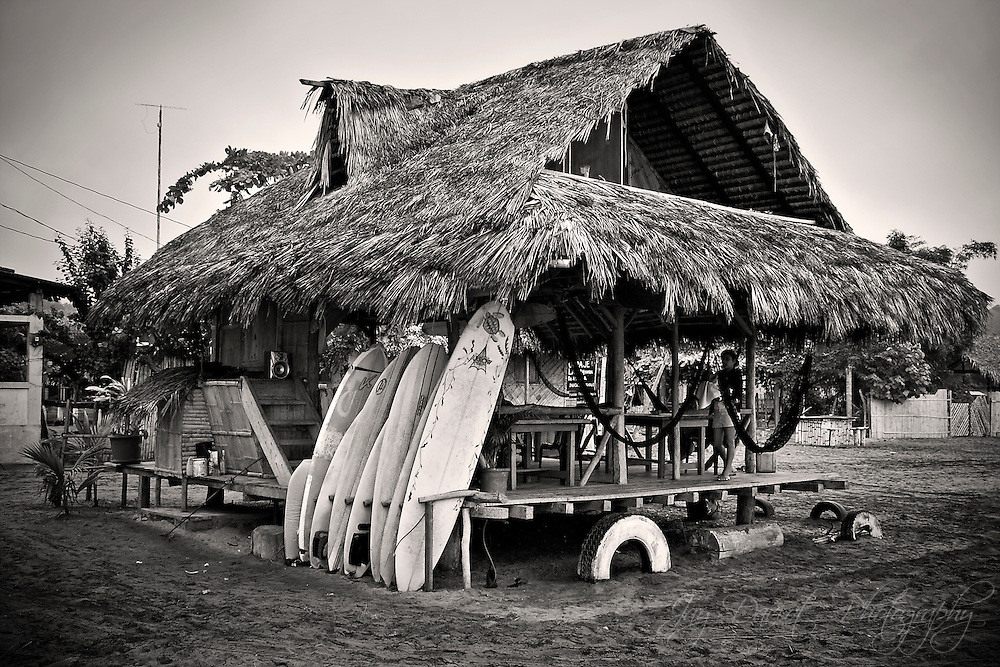 Surfboards for hire and beers on the beach - Mompiche, Ecuador.