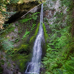 Marymere Falls, Falls Creek, Barnes Point, Olympic National Park, Washington, US