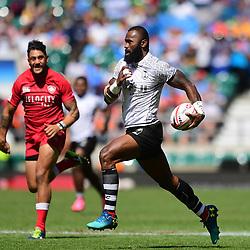 Semi Kunatani of Fiji makes a break