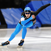 September 18, 2010 - Kearns, Utah - Maria Lamb races in long track speedskating time-trials held at the Utah Olympic Oval.