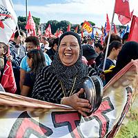 Manifestazione dei movimenti antagonisti contro l'austerita'