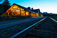 Lake Louise train station., Alberta, Canada, Isobel Springett