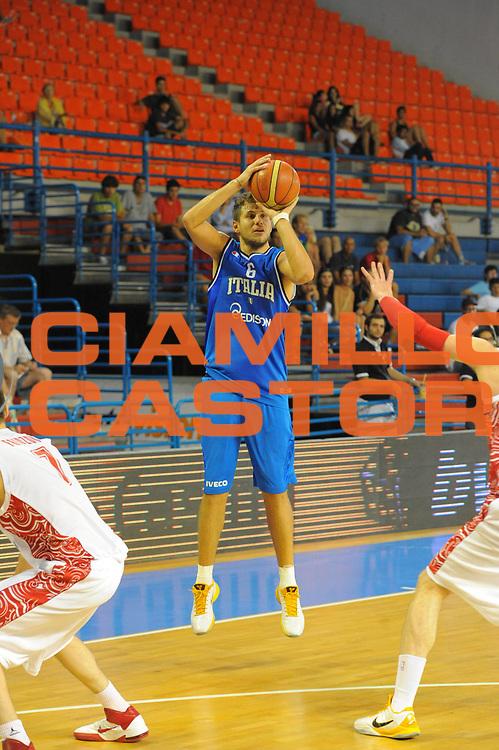 DESCRIZIONE : Cipro European Basketball Tour Italia Russia Italy Russia<br /> GIOCATORE : Stefano Mancinelli<br /> CATEGORIA : Tiro<br /> SQUADRA : Nazionale Italia Uomini <br /> EVENTO : European Basketball Tour <br /> GARA : Italia Russia <br /> DATA : 06/08/2011 <br /> SPORT : Pallacanestro <br /> AUTORE : Agenzia Ciamillo-Castoria/GiulioCiamillo<br /> Galleria : Fip Nazionali 2011 <br /> Fotonotizia :  Cipro European Basketball Tour Italia Russia Italy Russia<br /> Predefinita :