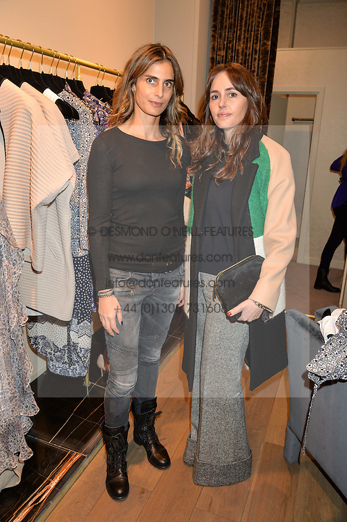 Left to right, CLAUDIA RUIMY and TANIA FARES at the Salt Store VIP Shopping event at 77 Eliabeth Street, London on 2nd December 2015.
