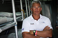 SPAIN, Barcelona. 13th September 2011. AUDI MedCup, Conde de Godo Barcelona Trophy. Simon Fry, Trimmer on TP52, Audi Azzurra Sailing Team.