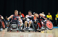 14 August 2015: TO2015 Parapanam Games, Wheelchair Rugby Gold medal match Canada v USA, Mississauga Sports Centre. JJeff Butler