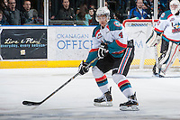 KELOWNA, CANADA - JANUARY 26: Madison Bowey #4 of the Kelowna Rockets skates on the ice against the Prince Albert Raiders at the Kelowna Rockets on January 26, 2013 at Prospera Place in Kelowna, British Columbia, Canada (Photo by Marissa Baecker/Shoot the Breeze) *** Local Caption ***