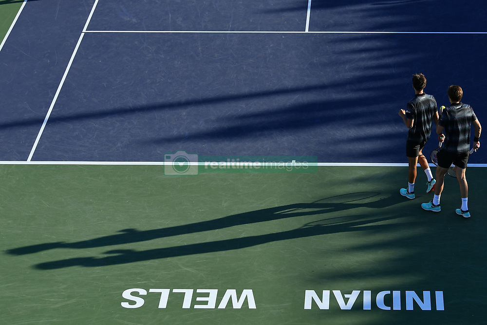 March 9, 2019 - Indian Wells, USA - Pierre Hugues Herbert and Nicolas Mahut (Credit Image: © Panoramic via ZUMA Press)