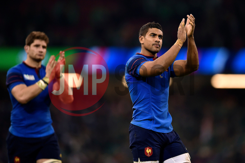 Wesley Fofana of France acknowledges the crowd after the match - Mandatory byline: Patrick Khachfe/JMP - 07966 386802 - 11/10/2015 - RUGBY UNION - Millennium Stadium - Cardiff, Wales - France v Ireland - Rugby World Cup 2015 Pool D.