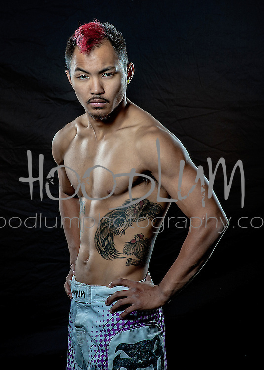 """Portrait of MMA Cage Fighter Dylan """"The Rooster"""" Oligo from Team Childs Play MMA"""