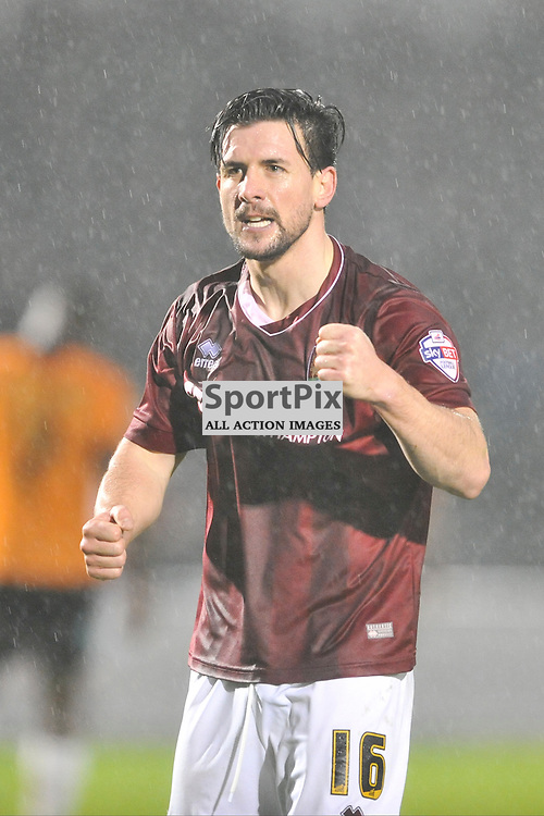 David Buchanan Celebrates after Northampton Score their Third Goal, Northampton Town v Barnet FC, Sixfields Stadium, Sky Bet League Two, Saturday 2nd January 2016