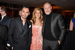 Left to right, Jean Bernard Fernandez-Versini, Fidan Bagirova and Jean-David Malat at the Gift of Life held at The Royal Festival Hall on South Bank, London England. 14 January 2017.