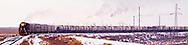 Train transporting gas from the Tengiz Refinery in Kazakhstan.