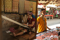 The Kayan, sometimes referred to as the Padaung, are a tribal people who are currently refugees in Thailand in the province of Mae Hong Son. They wear distinctive brass rings on their necks, which give the appearance of elongation. There are two theories as to how the wearing of brass rings originated. One is that a dragon was impregnated by the wind and gave birth to the Kayan people, the other is that it originated as a practical measure to protect ancient peoples from tiger attacks. Whatever the reason, it is considered a mark of beauty.  <br />