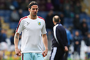 George Boyd of Burnley warming up before the Sky Bet Championship match between Burnley and Blackburn Rovers at Turf Moor, Burnley, England on 5 March 2016. Photo by Simon Brady.