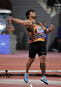 Ehsan Hadadi (IRN) wins the discus with a throw of 216-4 (65.95m) during the Asian Athletics Championships in Doha, Qatar, Saturday, April,21, 2019. (Jiro Mochizuki/Image of Sport)