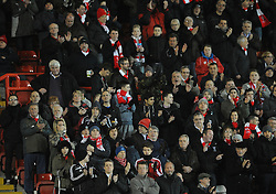Bristol City fans - Photo mandatory by-line: Dougie Allward/JMP - Mobile: 07966 386802 - 10/02/2015 - SPORT - Football - Bristol - Ashton Gate - Bristol City v Port Vale - Sky Bet League One
