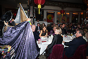 THE DUKE OF MARLBOROUGH; HENRIETTA CONRAD; LADY LINLEY; LORD LINLEY, Chinese New Year dinner given by Sir David Tang. China Tang. Park Lane. London. 4 February 2013.