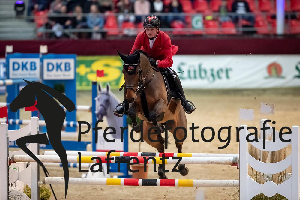 TROSCHKE Frederick (GER), Lanthaga<br /> Neustadt-Dosse - CSI 2019<br /> 2. Qualifikation Youngster Tour für 7 und 8 jährige Pferde<br /> 11. Januar 2019<br /> © www.sportfotos-lafrentz.de/Stefan Lafrentz