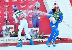 29.12.2017, Hochstein, Lienz, AUT, FIS Weltcup Ski Alpin, Lienz, Riesenslalom, Damen, Siegerehrung, im Bild v.l. Viktoria Rebensburg (GER, 2. Platz), Mikaela Shiffrin (USA, 3. Platz), Siegerin Federica Brigione (ITA) // f.l.t.r. second placed Viktoria Rebensburg of Germany third placed Mikaela Shiffrin of the USA winner Federica Brigione of Italy during the winner Ceremony for the ladie's Giant Slalom of FIS Ski Alpine World Cup at the Hochstein in Lienz, Austria on 2017/12/29. EXPA Pictures © 2017, PhotoCredit: EXPA/ Erich Spiess