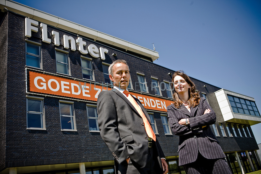 Bart Otto, directeur rederij Flinter en Liesbeth Gouwens, fiscaliste in Barendrecht, Netherlands op 29 May, 2009. (Photo by Michel de Groot)