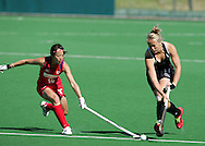 Kana NAGAYAMA and Lucy TALBOT during the BDO Women's Champions Challenge 1 match between New Zealand and Japan held at the Hartleyvale Stadium in Cape Town, South Africa on the 17 October 2009 ..Photo by RG/www.sportzpics.net.+27 21 (0) 21 785 6814